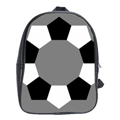 Pentagons Decagram Plain Black Gray White Triangle School Bags(large)  by Alisyart
