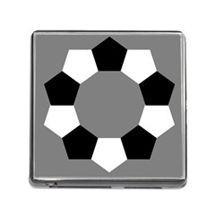 Pentagons Decagram Plain Black Gray White Triangle Memory Card Reader (square) by Alisyart