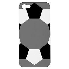 Pentagons Decagram Plain Black Gray White Triangle Apple Iphone 5 Hardshell Case by Alisyart