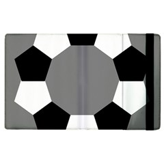 Pentagons Decagram Plain Black Gray White Triangle Apple Ipad 2 Flip Case by Alisyart