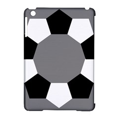 Pentagons Decagram Plain Black Gray White Triangle Apple Ipad Mini Hardshell Case (compatible With Smart Cover) by Alisyart