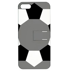 Pentagons Decagram Plain Black Gray White Triangle Apple Iphone 5 Hardshell Case With Stand by Alisyart