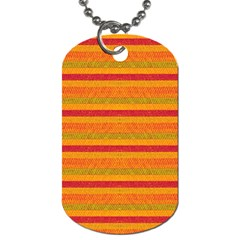 Lines Dog Tag (one Side) by Valentinaart