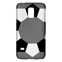 Pentagons Decagram Plain Black Gray White Triangle Galaxy S5 Mini by Alisyart
