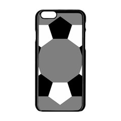 Pentagons Decagram Plain Black Gray White Triangle Apple Iphone 6/6s Black Enamel Case by Alisyart