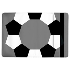 Pentagons Decagram Plain Black Gray White Triangle Ipad Air 2 Flip by Alisyart