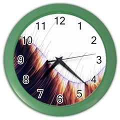 Abstract Lines Color Wall Clocks by Simbadda
