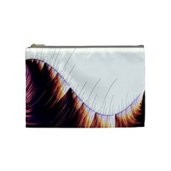 Abstract Lines Cosmetic Bag (medium)  by Simbadda