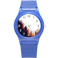 Abstract Lines Round Plastic Sport Watch (s) by Simbadda