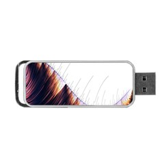 Abstract Lines Portable Usb Flash (two Sides) by Simbadda