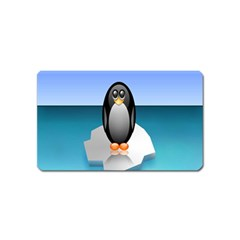 Penguin Ice Floe Minimalism Antarctic Sea Magnet (name Card) by Alisyart
