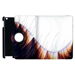 Abstract Lines Apple Ipad 2 Flip 360 Case by Simbadda