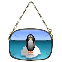 Penguin Ice Floe Minimalism Antarctic Sea Chain Purses (two Sides)  by Alisyart