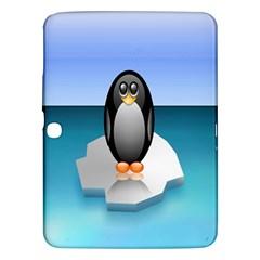 Penguin Ice Floe Minimalism Antarctic Sea Samsung Galaxy Tab 3 (10 1 ) P5200 Hardshell Case  by Alisyart
