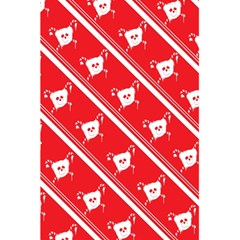 Panda Bear Face Line Red White 5 5  X 8 5  Notebooks by Alisyart