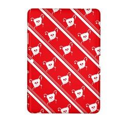 Panda Bear Face Line Red White Samsung Galaxy Tab 2 (10 1 ) P5100 Hardshell Case  by Alisyart