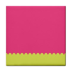 Pink Yellow Scallop Wallpaper Wave Tile Coasters by Alisyart