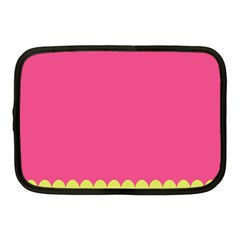 Pink Yellow Scallop Wallpaper Wave Netbook Case (medium)  by Alisyart
