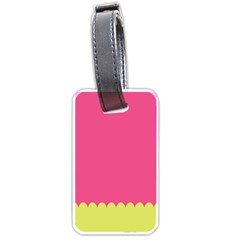 Pink Yellow Scallop Wallpaper Wave Luggage Tags (two Sides) by Alisyart