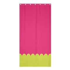 Pink Yellow Scallop Wallpaper Wave Shower Curtain 36  X 72  (stall)  by Alisyart