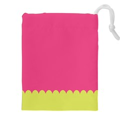 Pink Yellow Scallop Wallpaper Wave Drawstring Pouches (xxl) by Alisyart