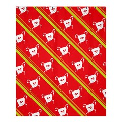 Panda Bear Face Line Red Yellow Shower Curtain 60  X 72  (medium)  by Alisyart