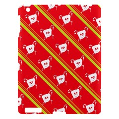 Panda Bear Face Line Red Yellow Apple Ipad 3/4 Hardshell Case by Alisyart