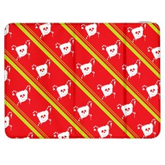 Panda Bear Face Line Red Yellow Samsung Galaxy Tab 7  P1000 Flip Case by Alisyart