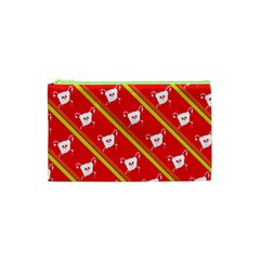 Panda Bear Face Line Red Yellow Cosmetic Bag (xs) by Alisyart