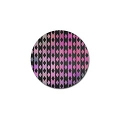 Old Version Plaid Triangle Chevron Wave Line Cplor  Purple Black Pink Golf Ball Marker by Alisyart