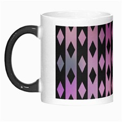 Old Version Plaid Triangle Chevron Wave Line Cplor  Purple Black Pink Morph Mugs by Alisyart