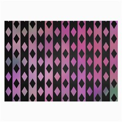 Old Version Plaid Triangle Chevron Wave Line Cplor  Purple Black Pink Large Glasses Cloth (2 Side) by Alisyart