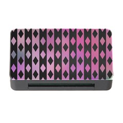 Old Version Plaid Triangle Chevron Wave Line Cplor  Purple Black Pink Memory Card Reader With Cf by Alisyart