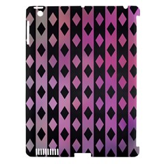 Old Version Plaid Triangle Chevron Wave Line Cplor  Purple Black Pink Apple Ipad 3/4 Hardshell Case (compatible With Smart Cover) by Alisyart