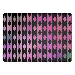 Old Version Plaid Triangle Chevron Wave Line Cplor  Purple Black Pink Samsung Galaxy Tab 10 1  P7500 Flip Case by Alisyart