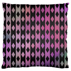 Old Version Plaid Triangle Chevron Wave Line Cplor  Purple Black Pink Large Flano Cushion Case (one Side) by Alisyart
