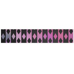 Old Version Plaid Triangle Chevron Wave Line Cplor  Purple Black Pink Flano Scarf (large) by Alisyart