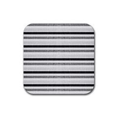 Lines Rubber Square Coaster (4 Pack)  by Valentinaart