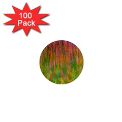 Abstract Trippy Bright Melting 1  Mini Magnets (100 Pack)  by Simbadda