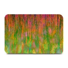 Abstract Trippy Bright Melting Plate Mats by Simbadda