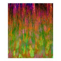 Abstract Trippy Bright Melting Shower Curtain 60  X 72  (medium)  by Simbadda