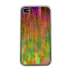Abstract Trippy Bright Melting Apple Iphone 4 Case (clear) by Simbadda