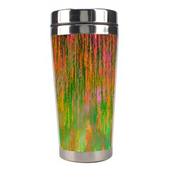 Abstract Trippy Bright Melting Stainless Steel Travel Tumblers by Simbadda