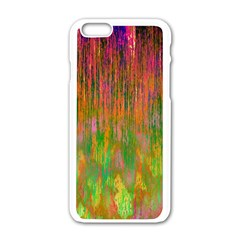 Abstract Trippy Bright Melting Apple Iphone 6/6s White Enamel Case by Simbadda