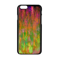 Abstract Trippy Bright Melting Apple Iphone 6/6s Black Enamel Case by Simbadda