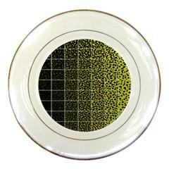Pixel Gradient Pattern Porcelain Plates by Simbadda