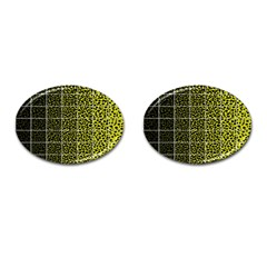 Pixel Gradient Pattern Cufflinks (oval) by Simbadda