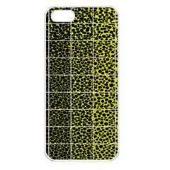 Pixel Gradient Pattern Apple Iphone 5 Seamless Case (white) by Simbadda