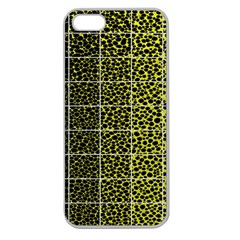 Pixel Gradient Pattern Apple Seamless Iphone 5 Case (clear) by Simbadda