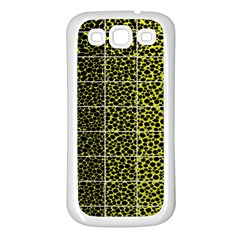 Pixel Gradient Pattern Samsung Galaxy S3 Back Case (white) by Simbadda